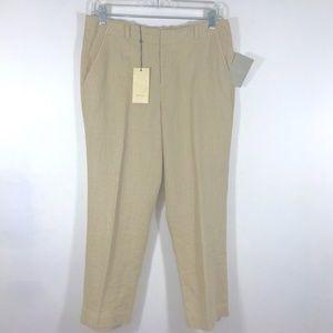 elevenses Size 6 Pant Tan Linen Blend New Tags